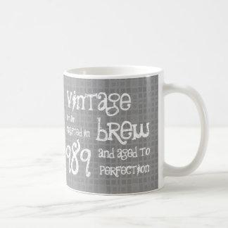 25th Birthday 1989 Vintage Brew or Any Year V25C Coffee Mug