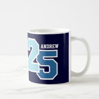 25th Birthday AQUA and TEAL V002C Coffee Mug