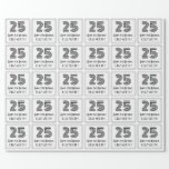 """[ Thumbnail: 25th Birthday: Art Deco Inspired Style """"25"""" + Name Wrapping Paper ]"""