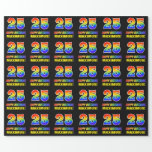 [ Thumbnail: 25th Birthday: Bold, Fun, Simple, Rainbow 25 Wrapping Paper ]