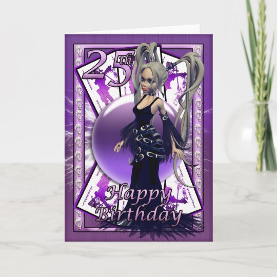 25th Birthday Card With Gothic Doll Cards Orb Zazzle