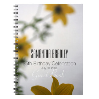 25th Birthday Celebration Floral Guest Book
