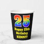[ Thumbnail: 25th Birthday: Colorful, Fun, Exciting, Rainbow 25 ]