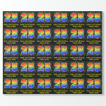 [ Thumbnail: 25th Birthday: Colorful Music Symbols, Rainbow 25 Wrapping Paper ]