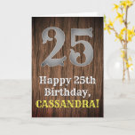 [ Thumbnail: 25th Birthday: Country Western Inspired Look, Name Card ]