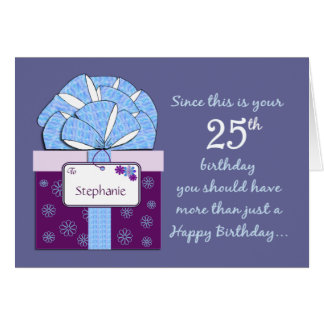 25th Birthday Customizable Card