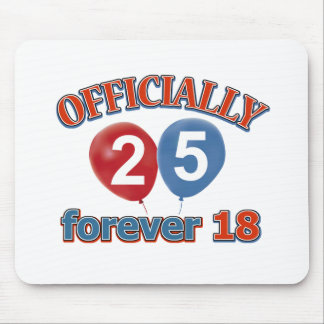 25th birthday designs mouse pad