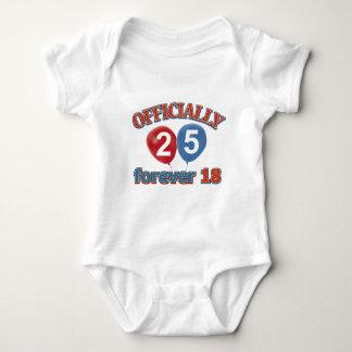 25th birthday designs t-shirt