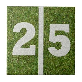 25th Birthday Football Customizable Tile