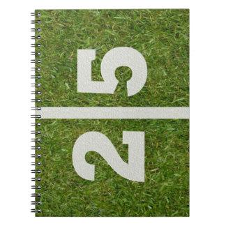 25th Birthday Football Field Notebook