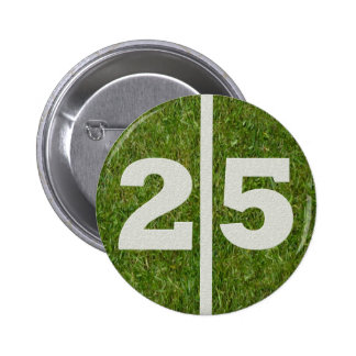 25th Birthday Football Yard Button