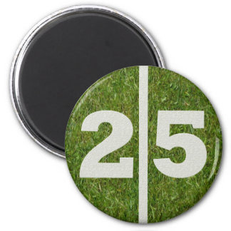 25th Birthday Football Yard Magnet
