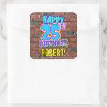 [ Thumbnail: 25th Birthday – Fun, Urban Graffiti Inspired Look Sticker ]