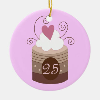 25th Birthday Gift Ideas For Her Double-Sided Ceramic Round Christmas Ornament