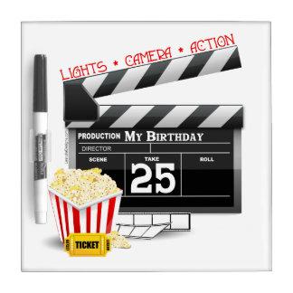 25th Birthday Hollywood Movie Party Dry Erase Board