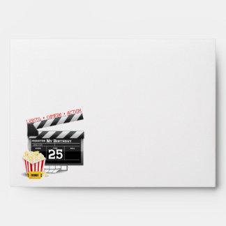 25th Birthday Hollywood Movie Party Envelope