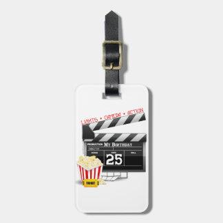 25th Birthday Hollywood Movie Party Luggage Tag