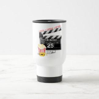 25th Birthday Hollywood Movie Party Travel Mug