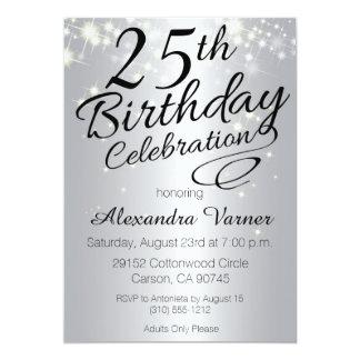 25th Birthday Invitations & Announcements | Zazzle
