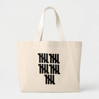 25th birthday large tote bag