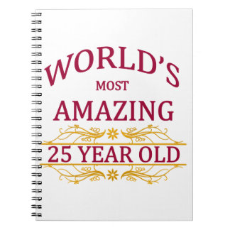 25th. Birthday Notebook