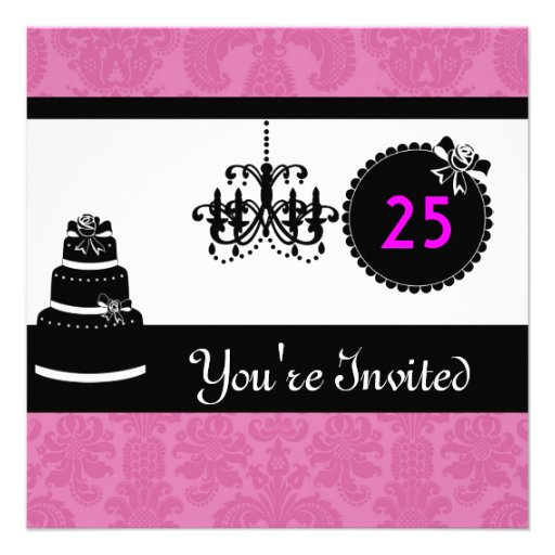 25Th Birthday Invitations and get inspiration to create nice invitation ideas