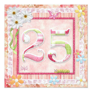 25th birthday party scrapbooking style card