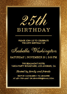 94 25th Birthday Party Invites