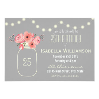 25th birthday invitations & announcements | zazzle, Birthday invitations