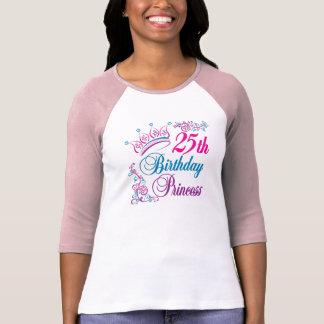 25th Birthday Princess Tee Shirt