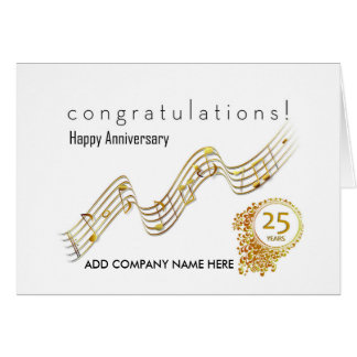 25th Business Anniversary - Music Notes