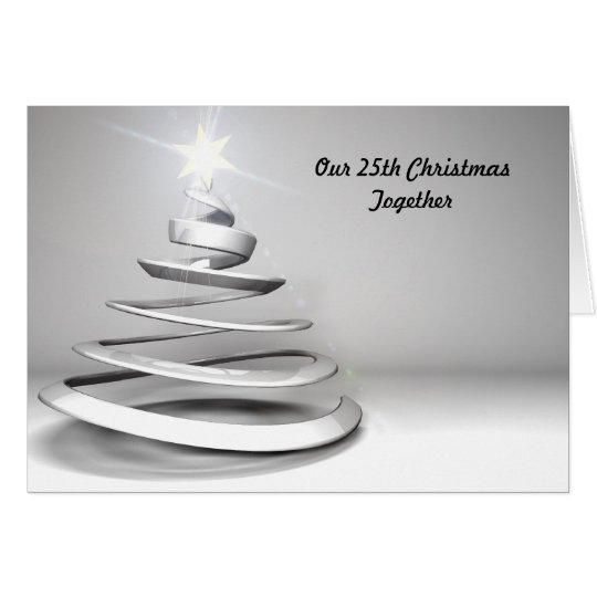 25th Christmas Together Christmas Card