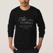 25th Classic Silver Wedding Anniversary T-Shirt
