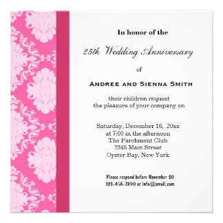 25th Damask Anniversary Announcements