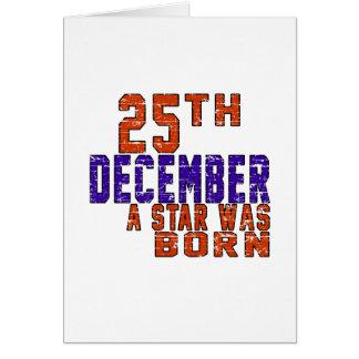 25th December a star was born Card
