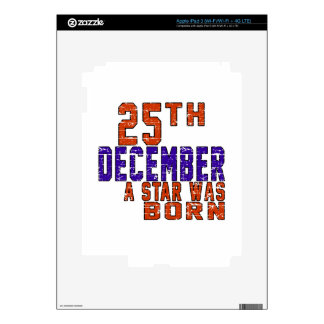 25th December a star was born Skin For iPad 3
