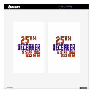 25th December a star was born Decal For Kindle Fire