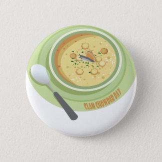 25th February Clam Chowder Day - Appreciation Day Button