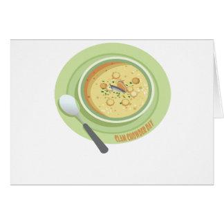 25th February Clam Chowder Day - Appreciation Day Card