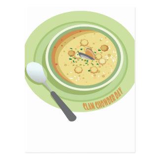25th February Clam Chowder Day - Appreciation Day Postcard