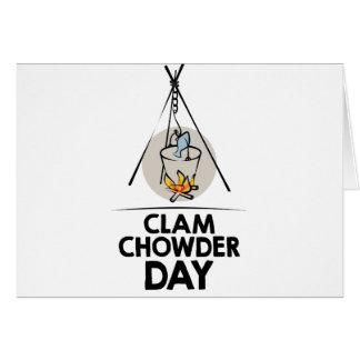 25th February - Clam Chowder Day Card