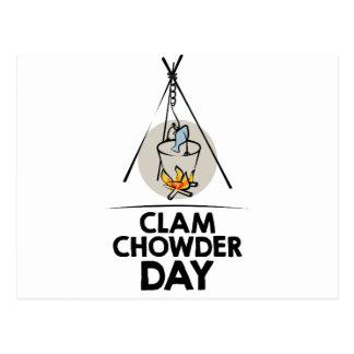 25th February - Clam Chowder Day Postcard