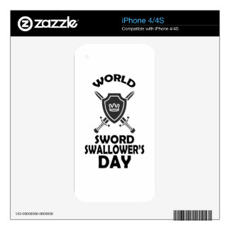 25th February - World Sword Swallower's Day Decals For The iPhone 4