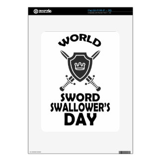 25th February - World Sword Swallower's Day iPad Skin