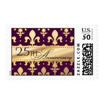 25th, Golden Wedding Anniversary, Fleur de Lis Postage