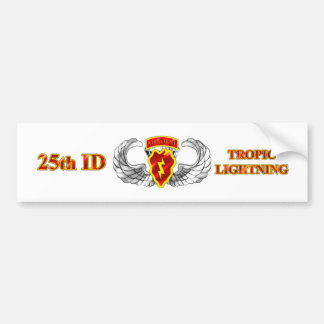 25th ID Airborne Tropic Lightning Car Bumper Sticker