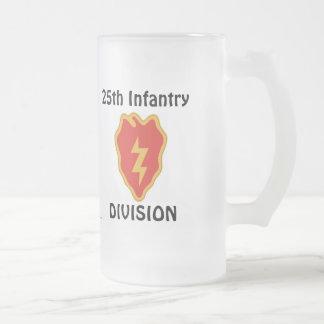 25th Inf Div fr m/1 16 Oz Frosted Glass Beer Mug