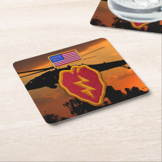 25th INF DIV ID infantry division veterans vets Square Paper Coaster