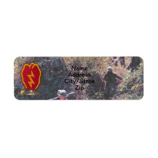 25th INF DIV infantry division veterans Vietnam Label
