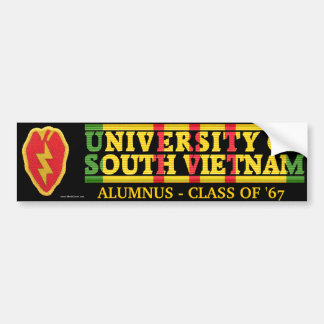 25th Inf. Div - U of South Vietnam Alumnus Sticker